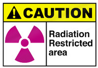 Caution - Radiation Restricted Area Aluminum Sign