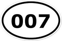 007 Oval Bumper Sticker