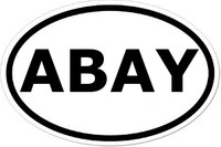 ABAY Oval Bumper Sticker