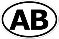 AB Oval Bumper Sticker