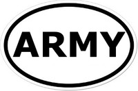 ARMY Oval Bumper Sticker