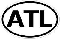 ATL Oval Bumper Sticker