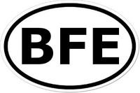 BFE Oval Bumper Sticker