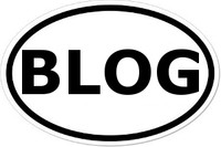 BLOG Oval Bumper Sticker