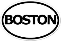BOSTON Oval Bumper Sticker