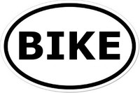 BIKE Oval Bumper Sticker