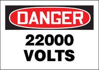 Danger 22,000 Volts