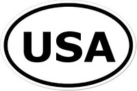 USA Oval Bumper Sticker
