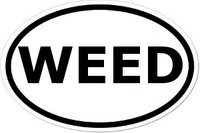 WEED Oval Bumper Sticker