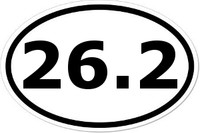 26.2 Oval Bumper Sticker