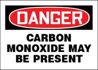 Danger Carbon Monoxide May Be Present Sign