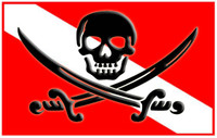 Dive Flag With Calico Jack
