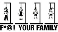 F*@! Your Family Decal (Hanging Family)