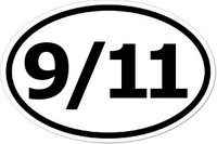 9/11 Oval Bumper Sticker