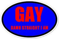 Gay Oval Bumper Sticker