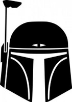 Boba Fett Helmet Decal