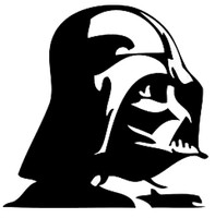Darth Vader Profile Decal