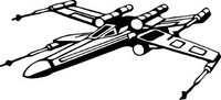 Star Wars X-Wing Fighter Decal #2