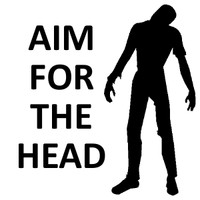 Aim For The Head Zombie Decal