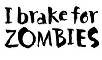 I Brake For Zombies Decal