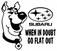 Scooby Doo Subaru Decal