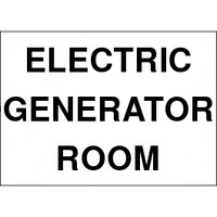 Electric Generator Room Sign