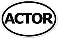 ACTOR Oval Bumper Sticker