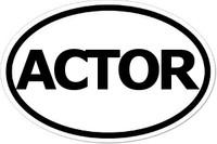 ACTOR Oval Bumper Sticker