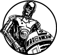 Star Wars C3PO & R2D2 Decal