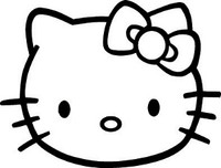 Hello Kitty Head Decal