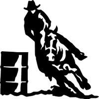 Cowboy Barrel Racing Decal