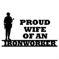Proud Wife Of An Ironworker Decal