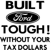 Built Ford Tough Decal