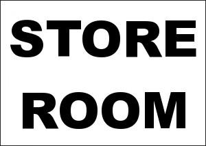 Store Room Aluminum Sign