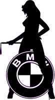 BMW Sexy Girl Decal