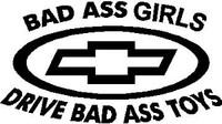 Chevy Bad Ass Girls Decal