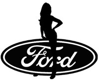 Ford Sexy Girl Decal