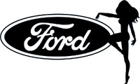 Ford Sexy Truck Girl Decal