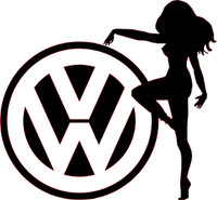 VW Sexy Girl Decal 1