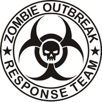 Zombie Outbreak Response Team Skull Decal