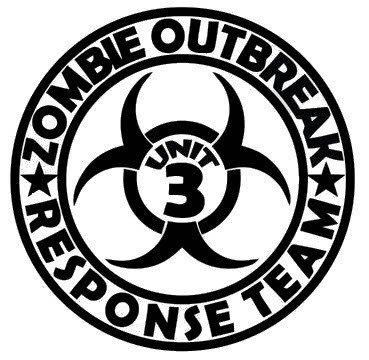 Zombie Outbreak Response Team Unit 3 Decal