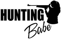 Hunting Babe Decal