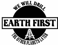 Drill Earth First Decal
