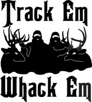 Track Em Whack Em Hunting Decal 1