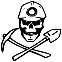 Coal Miner Skull Decal