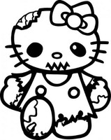 Hello Kitty Zombie Decal 1