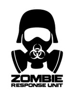Zombie Response Unit Mask Decal