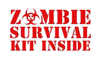 Zombie Survival Kit Inside Decal