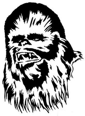 Star Wars Chewbacca Head Sticker