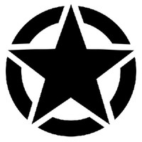 Army Star Decal
